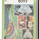 Simplicity 8393 Pattern for 5 Bags 1978