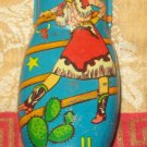 Kirchhof Tin Toy Vintage Clicker Cowgirl  Noisemaker