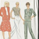 Butterick Misses Pattern 4229 Size 10 Jacket Top Skirt & Pants