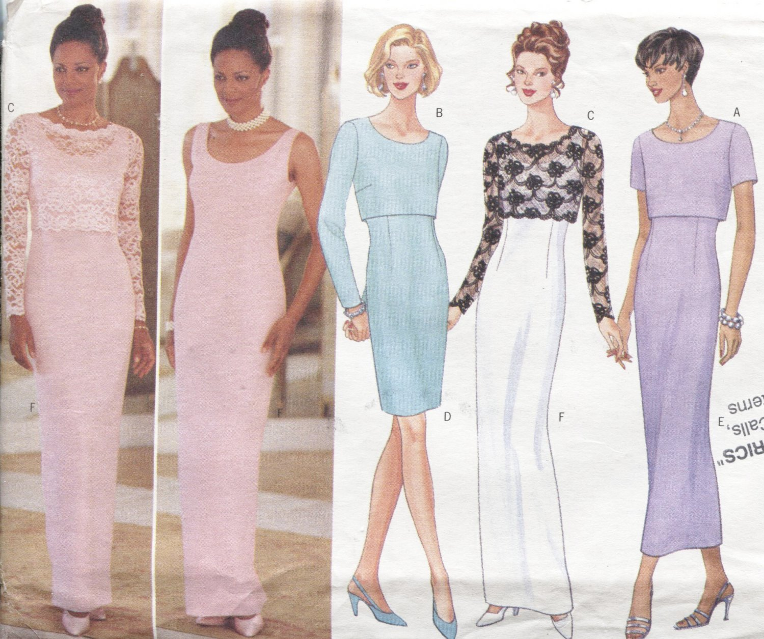 Butterick Pattern 4782 Classic Style Size 12-14-16 Misses Top and Dress 1996