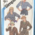 Simplicity 6552  Pattern Size 15 Misses Shirts Blouses 1984