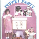 Fur Puppet Party Patterns Instructions Animal Puppets Dog Cat Monkey