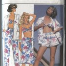 Butterick Pattern 3306 Misses Shirt Skirt Pants Shorts Bra Size 12-14-16 Partially Used
