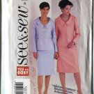 Size A 8-10-12 Uncut Butterick 2002 See Sew Misses Pattern 3622 Dress Suit Skirt and Jacket  Uncut