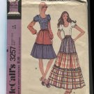 McCalls Pattern 3257 Misses Boho Skirt and Peasant Blouse Size 16