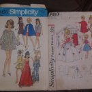 Simplicity Patterns for Teen Dolls Barbie Other 12 Inch Teen Dolls