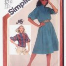 Simplicity 5453 Size 10-12 Misses Dress Jiffy Pattern 1982