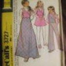 Girls Size 12 McCalls Pattern Unused Uncut 1972 Skirt Vest Pants