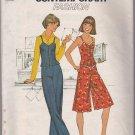 Simplicity 8036 Size 12 Uncut Pattern 1977 Retro Summer Top Pantskirt Culottes Pants