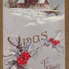 Xmas to Greet You Vintage Christmas Postcard 1909