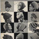 Hits in Hats to Knit and Crochet Vol. 92 1965 Booklet   Free Ship US