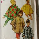 Simplicity 6651 Size Small 10-12 1966 Misses Set of Ponchos