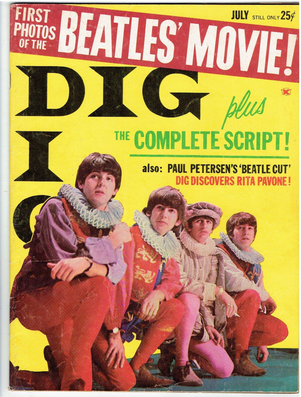 Teen Magazines Dig July 1964 Beatles Centerfold Amp Tiger Beat