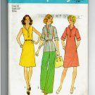 Vintage Misses Simplicity Pattern 6987 Dress or Top, Pants  Size 12 1975 Unused