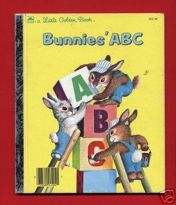 Vintage Little Golden Book - Bunnies' ABC