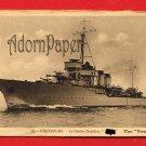Vintage Postcard - Cherbourg old battleship p21