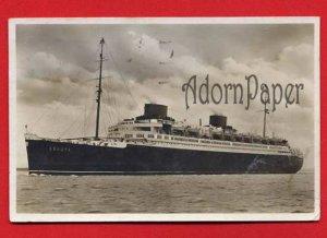 Vintage Real Photo Postcard RPPC - Steamship cruise liner c 1930 p22