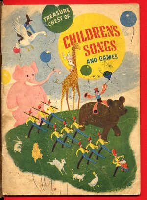 Treasure Chest Childrens Songs & Games music book c1935 - 702