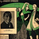 Blue Danube Waltz - Strauss - vintage sheet music 1935 - 645