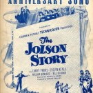 Anniversary Song - The Jolson Story sheet music - 1946 - 647