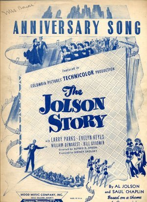 Anniversary Song - The Jolson Story sheet music - 1946 - 647