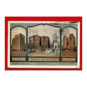 Vintage Postcard - historic Hotel Richmond, Richmond VA 953