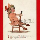 Vintage Post Card - VALENTINE pretty girl by Gibson Art 957