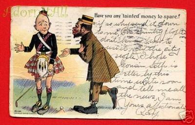 Vintage E Nash Postcard - Black man & Scots man circa1905  210