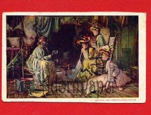 Vintage Postcard - Pretty women - Love potion from black woman W50