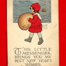 Vintage Postcard - Christmas - Cute Little Girl - perhaps artist Schmucker  844