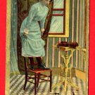 Vintage Comic Postcard - Woman standing on chair - afraid of mice not rats 221