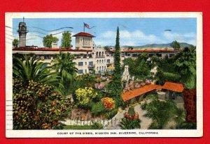 Vintage Postcard -  Historic Mission Inn - Court of Birds - Riverside CA 57