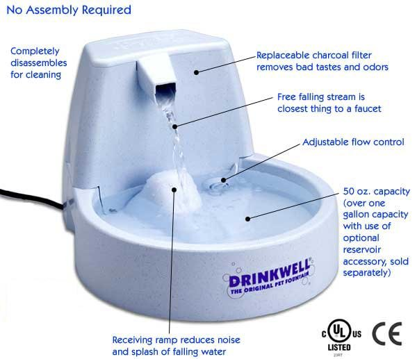 Drinkwell brand Recirculating Pet Fountain