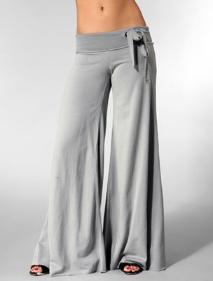 """gray wide loose """"YFB"""" pants xs"""