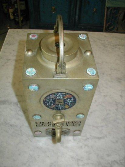 19c Asian Samovar Champleve Enamel Tea Water Heater