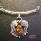 Native American Elken Senter Fire Agate Sterling Necklace