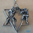 "2"" Sterling Modernist Holocaust Star of David Judaica Charm"