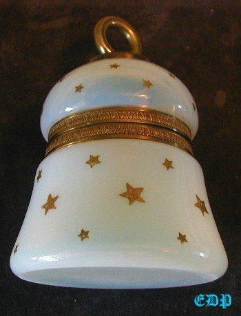 French Opal Glass Lighter Tobacciana Art Glass 24KT