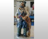 "16"" Wine Bottle Decanter OLD MAN Statue Italy Barware"