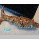 """2"""" Filigree Ornate Fish Koi Charm Pendant Moves Silver"""