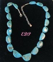 Estate Sterling and Turquoise Necklace Designer Signed