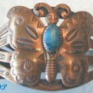 Native American Copper Turquoise BUTTERFLY Bracelet