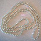 "62"" Natural Baroque Pearls Pearl Eternity Necklace"