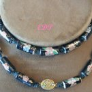 Cloisonne Porcelain Beads Necklace Filigree Clasp Bead