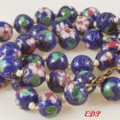 Cloisonne Beads Necklace Enamel Floral Filigree Clasp