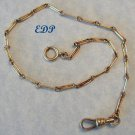 "19C European Watch Chain 13"" Bracelet Etched Links"
