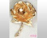 Marcel Boucher Flower Golden Rose Brooch Pin w Pearl