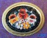 Micro Mosaic Floral Pin Brooch Italy Florals Flowers