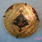 Persian Mother of Pearl Hand Painted Brooch Pin Iran