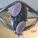 Native American Navajo Zuni Sterling MOP Cuff Bracelet